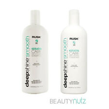 Rusk Deepshine Smooth Keratin Care Smoothing Shampoo and Conditioner 33.8 oz