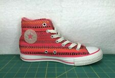 Converse Chuck Taylor All Star High Top Knit Pink & Orange Sneakers~Girls Size 6