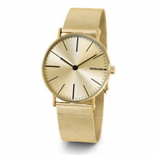"Lambretta ""Caesar Mesh Gold"" Stainless Steel IP Gold Sunray Mesh Men's Watch #O3"