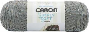 Caron Simply Soft Tweeds Yarn-Gray Heather -294023-23002