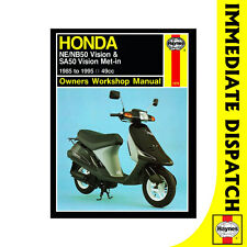 [1278] Honda NE50M NB50M Vision SA50 Vision Met-in 1985-95 Haynes Workshop Manua