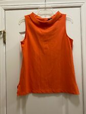 TALBOTS Petite Orange Sleeveless Cotton Blend Top Size Medium