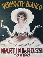 Vintage Vermouth Drink Ad Art deco  Canvas  Framed