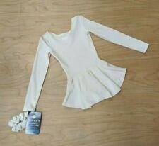Mondor White Velvet Glitter Sparkle Long Sleeve Ruffle Skirt Scrunchy Girls