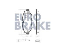 Bremsbelagsatz Scheibenbremse - Eurobrake 5502223362