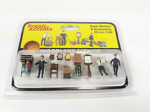 MIP Woodland Scenics HO Scale A1909 Scenic Accents Depot Workers & Accessories