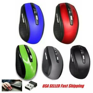Wireless Optical Mouse Mice & USB Receiver For PC Laptop Computer DPI USA