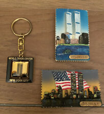 World Trade Center Commemorative Magnet And Keychain Set