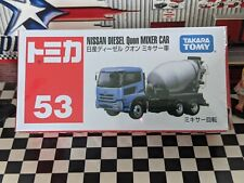 TOMICA #53 NISSAN DIESEL QUON MIXER CAR CEMENT MIXER NEW IN BOX