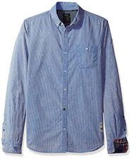 New Mens Buffalo David Bitton Savino Faded Mirage Fashion Woven Shirt Shirt XL