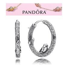 Pandora Silver Spring Bird Hoops Earrings S925 ALE