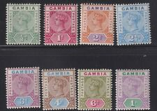 GAMBIA 1898-1902 set of defs to 1s-mint hinged