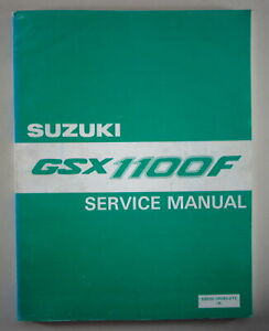 Taller Manual/Manual de Reparacion Suzuki GSX 1100F Stand 10/1987