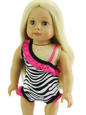 """Zebra Swimsuit Bathing Suit fits 18"""" American Girl Doll Clothes Sew Beautiful"""