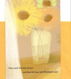 Thinking Of You Anniversary of Death Or Loss Yellow Flowers Hallmark Card