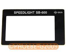 GGS LCD Screen Protector glass for Nikon SB-600 SB600