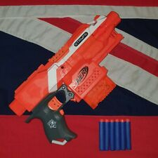 Nerf Elite Stryfe Blaster Gun 6 Clip Magazine 6 Blue Foam Darts BUNDLE JOB LOT
