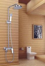 """Cheap New Bathroom Chrome Rain 8"""" Shower Set Faucet With Handy Unit Tap9050"""