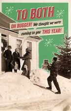 To Both Oh Bugger Retro Humour Christmas Greeting Card Funny Xmas Cards