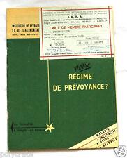 Brochure Mutuelle Caisse de Prévoyance régime retraite IRPA an. 1960