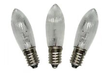 30 Riffelkerzen 12V 3W E10  Ersatzlampe Terassenbeleuchtung Partybeleuchtung