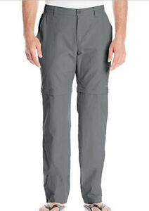 """NEW Columbia men's Blood and Guts III Convertible pants GRILL, Inseam 32"""""""