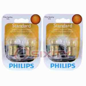 2 pc Philips Rear Side Marker Light Bulbs for Merkur Scorpio 1988-1989 ur