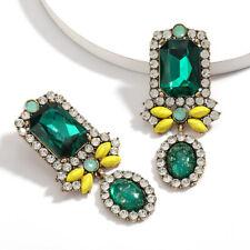 Green Crystal & Rhinestone Earring Beautiful & Bold Fashion Statement