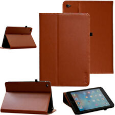 CUERO GENUINO Funda para iPad DE APPLE MINI 4 protectora tableta bolsillo BROWN