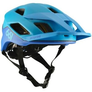 SixSixOne Crest MIPS Helmet Blue/Blue - Open Face Mountain Bike Trail Enduro