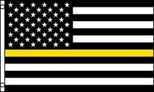 Thin Yellow Line American Flag 3x5 ft Security Guard Loss Prevention Tow Truck