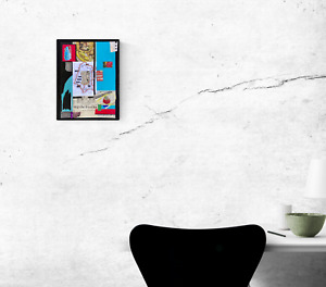 frivolous on trips... Blue Abstract Collage Word Art - Steven Tannenbaum