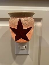 Scentsy Rustic Star Plug In Electric Wax Warmer Night Light