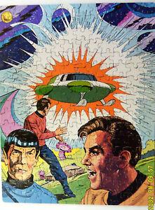 Vintage 70's Complete Original Star Trek Puzzle Kirk Spock 200 Piece Whitman