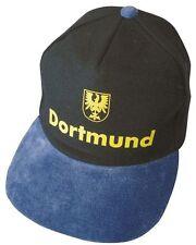 BASEBALLCAP CAP BERRETTO schirmmuetze muetze NERO BLU con stick Dortmund 68889