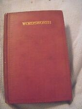 THE POETICAL WORKS OF WORDSWORTH T. Hutchinson Ed. 1916 Oxford Univ. Press