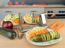 Grunwerg Potato Vegetable Spiral Slicer Julienne Skewer Garland Stainless Steel