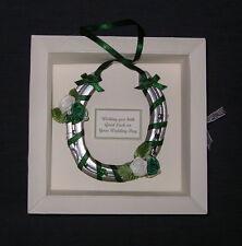 Bridal wedding lucky real horseshoe in IRISH THEME