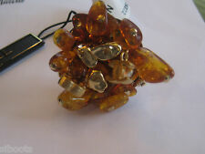 Chanel AUTHENTIC NWT Amber Crystal and Pearl Ring (ORIGINALLY $797) w/tax