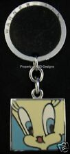 Signed Warner Bros Tweety Bird Keychain Key Ring 3042