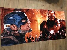 "Avengers Towel 30x60"" Iron Man and Captain America 100% Cotton"