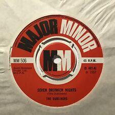 """THE DUBLINERS Seven Drunken Nights Major Minor UK 1967 Ex+ Pop 7"""""""