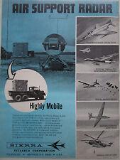 10/1973 PUB SIERRA RESEARCH AIR SUPPORT RADAR AN/TPB-1A USAF ORIGINAL AD
