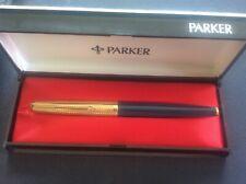 Vintage PARKER 65 Fountain Pen 14k Solid GOLD Nib & Gold filled Crosshatch Cap
