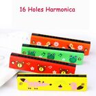 Wooden Harmonica Musical Montessori Educational Instrumental Colorful Wind Toy