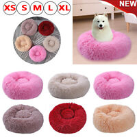 Pet Dog Cat Calming Bed Round Nest Warm Soft Plush Sleeping Bag Comfy Flufy Fold