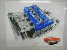 LOTUS ELAN TWIN CAM ENGINE AND CAR STUNNING LIMITED EDITION PRINT NEW