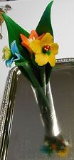 """Pen Mix Acrylic Polymer Clay Mixed Colors 7.5"""" w/Flower 3 Pack Novelty Set"""