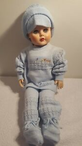 "Vintage 1950's Plaything #1 5 Stuffed Vinyl/Rubber Doll 24"" - Sleep Eyes-"