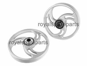 Royal Enfield Standard Model Parado 3 Spoke Front & Rear Drum Alloy Wheel Rims